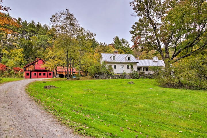 This 4-bedroom, 2.5-bath home is tucked away in the countryside.