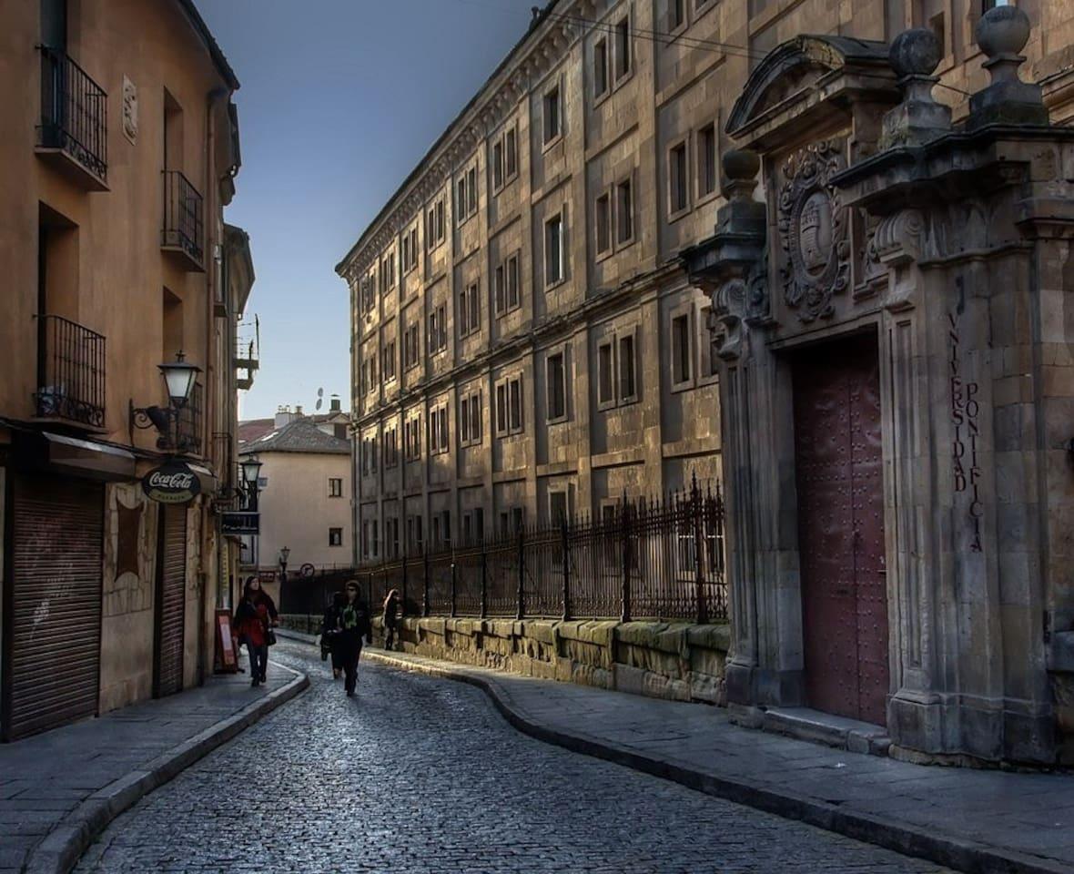 En plena Calle Historica de Salamanca...
