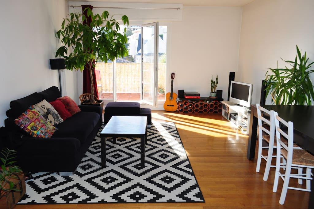 Appartement lumineux 80m vue sur le puy de d me - Appartement meuble a louer clermont ferrand ...