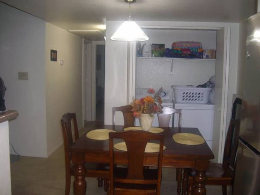 Dining/laundry area