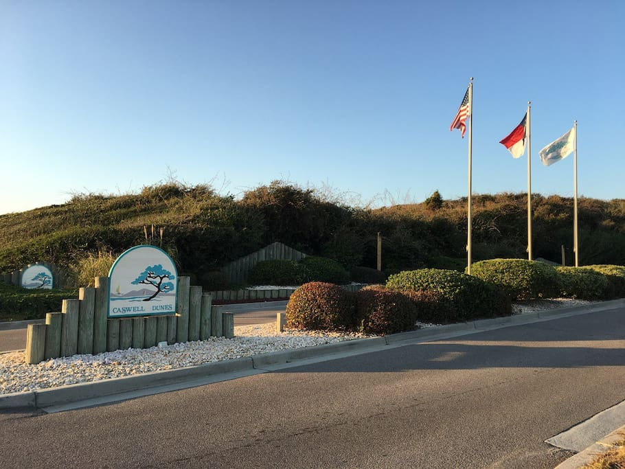 Caswell Dunes entrance