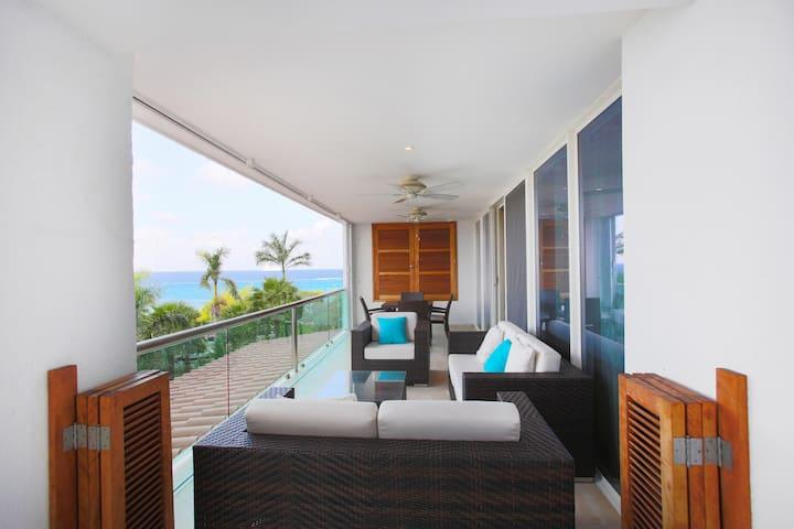 Super cozy ocean view condo with great amenities - San Miguel de Cozumel - Apartamento