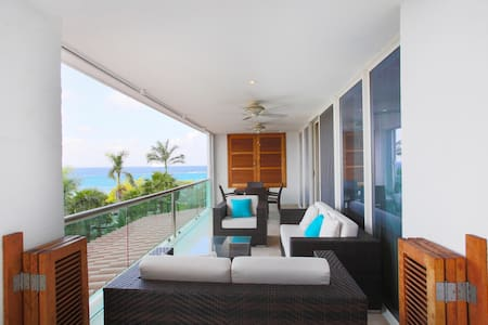 Super cozy ocean view condo with great amenities - San Miguel de Cozumel - Apartemen
