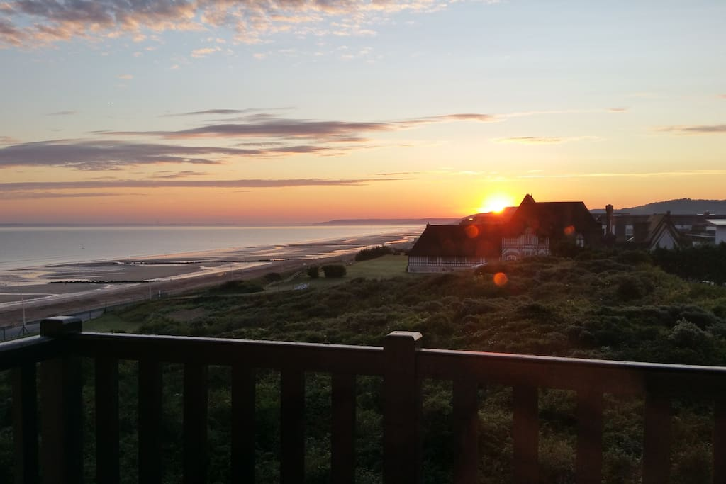 Belle vue du lever du soleil