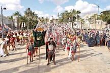 Fiesta de Carthagineses y Romanos. Cartagena sale de fiesta. Impresionante