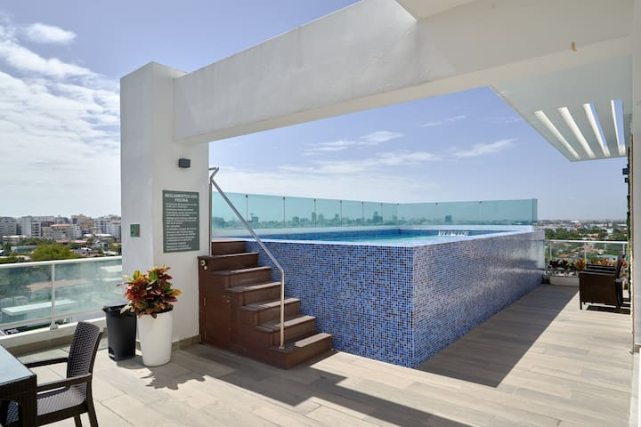 Downtown Santo Domingo | Rooftop Chic Apartment