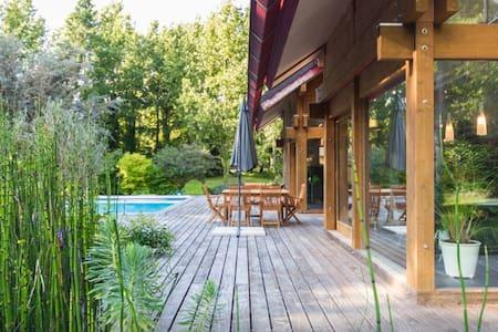 VILLA PISCINE, domaine privé à 40 mn de Nantes - Plessé