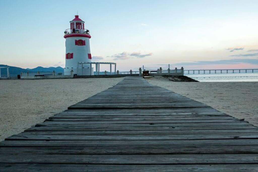 海湾半岛特色灯塔