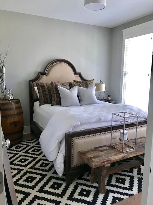 Bedroom with pillow top Queen bed
