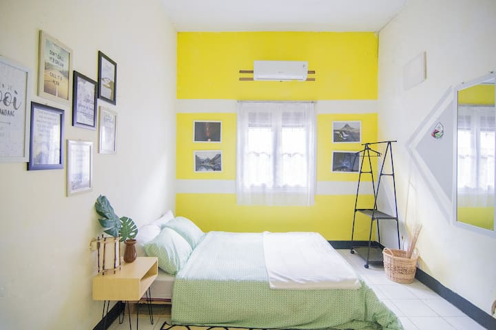 Comfortable and clean bedroom with strong Airconditioner
