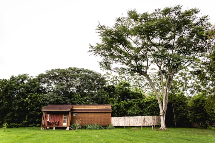 Linda acomodação em uma fazenda/reserva ecológica