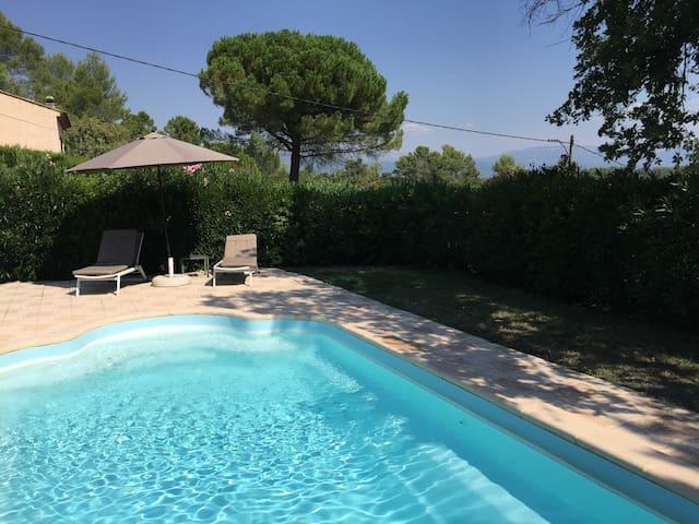 Villa 6-8 pers. piscine sécurisée - Saint-Paul-en-Forêt - Willa