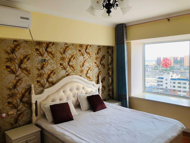 临海客栈临海店—首山简欧海景公寓两室一厅可看海可做饭