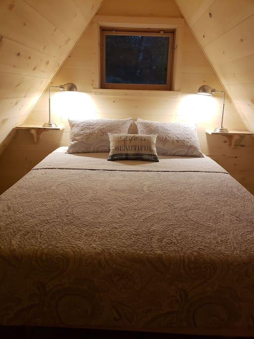 Upstairs Queen Bedroom with desk