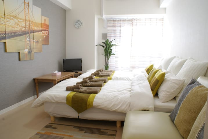 Namba Dotonbori Area, Nice Location Room!! 6PAX - Naniwa-ku, Ōsaka-shi - Wohnung