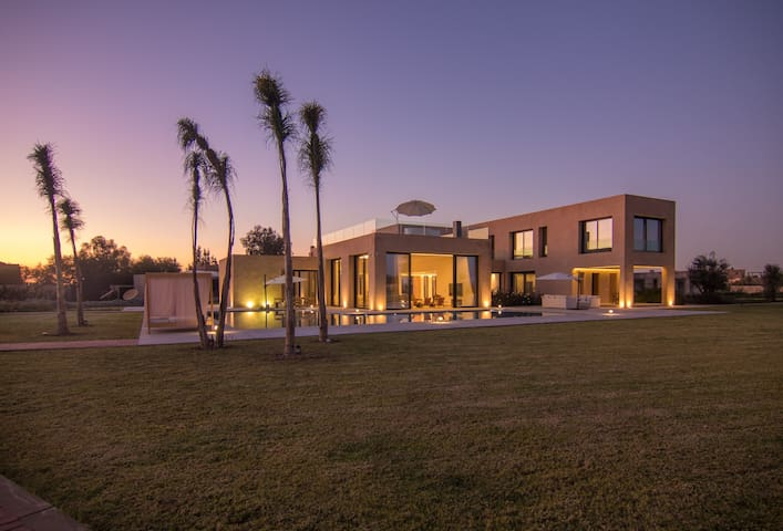 A luxurious retreat with magical landscape
