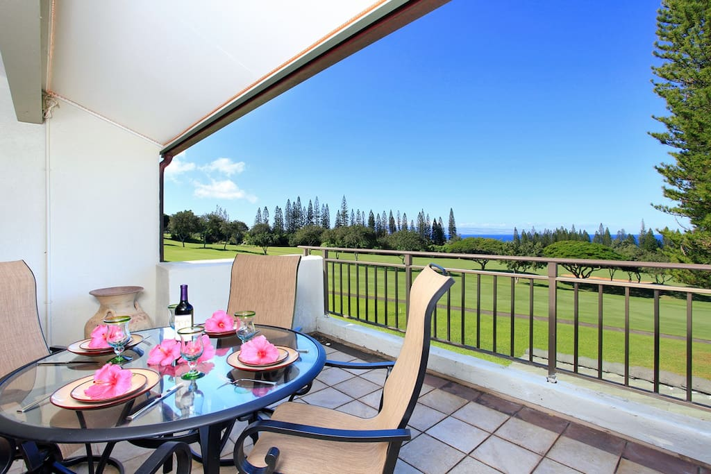 Stunning golf course front property with partial ocean views