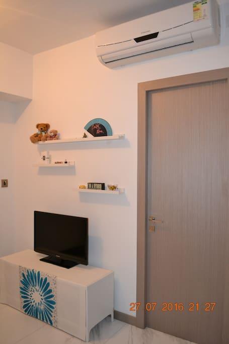Living Room (door leads to the bedroom)