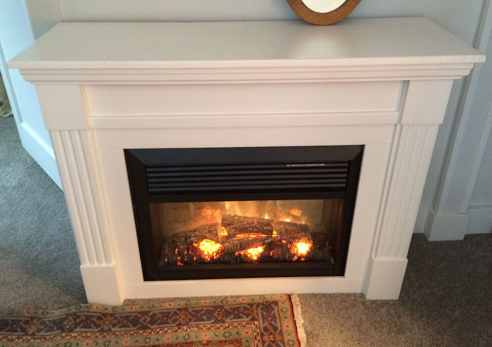 Your own fireplace for ambience and heat
