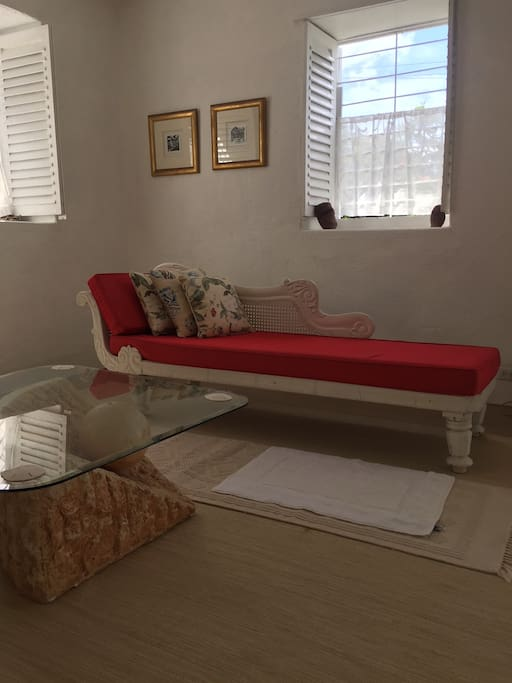 The Pavarotti chaise.  He stayed at a Villa where I bought this traditional Barbadian chaise from.