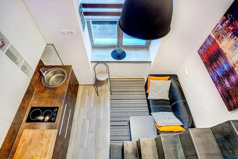 Tiny RadioLofts studio close to Vilnius old town