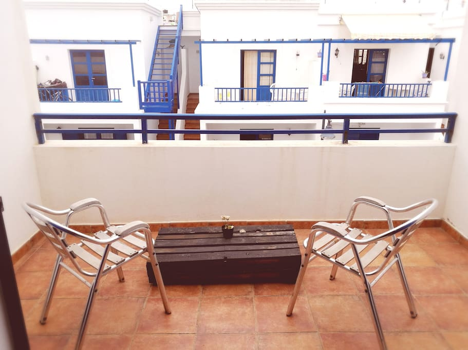 This is the terrace in your bedroom. From here you can see the beach, check the waves and see La Graciosa Island every morning. Enjoy you breakfast or a afternoon wine with total privacy.