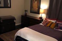 Bedroom #1 has a Queen bed and bathroom