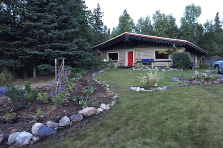 Authentic Log Cabin with Anchorage Hillside View - Anchorage