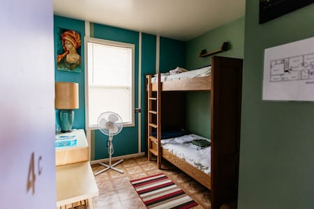 Our comfortable bunk bed private rooms are a wonderful way to stay at the hostel with extra privacy.