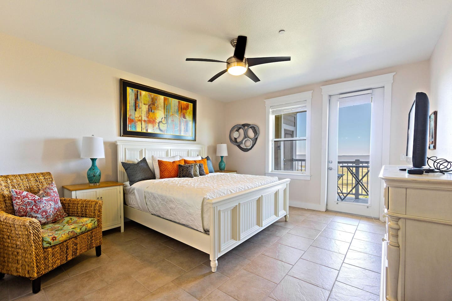 Comfortable king bed in master bedroom