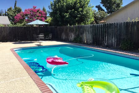2 BEDS PRIVATE ROOM QUIET SAFE-POOL - Stockton - Dom