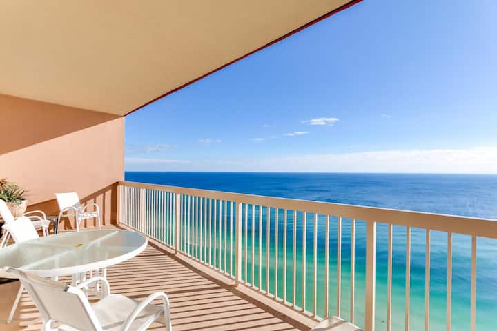Beachfront Penthouse Condo - Gulf View From Master