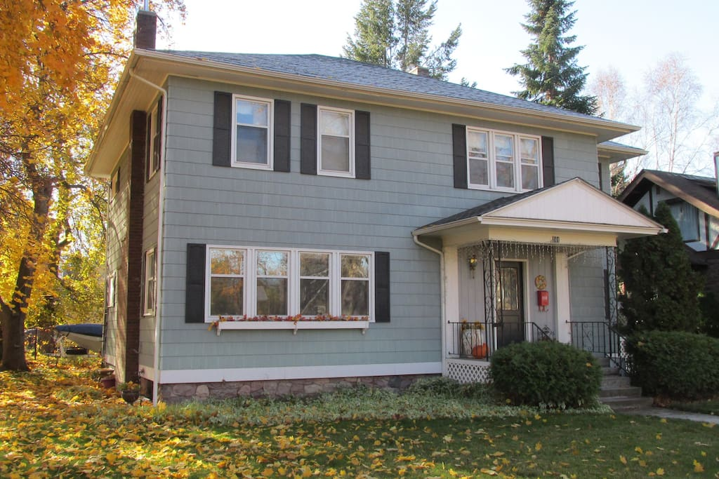 Studio Apt with private entrance is back left of our home--Fall in Missoula