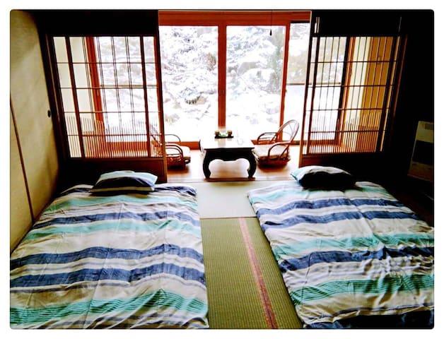 百年梅子树下的房屋:梅の屋榻榻米B - 小樽 - Casa