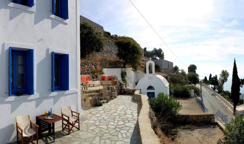 A Mill Villa over the Volcano of Nisyros