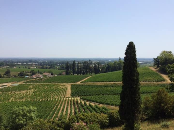 Vue exceptionnelle sur la vallée de la Dordogne