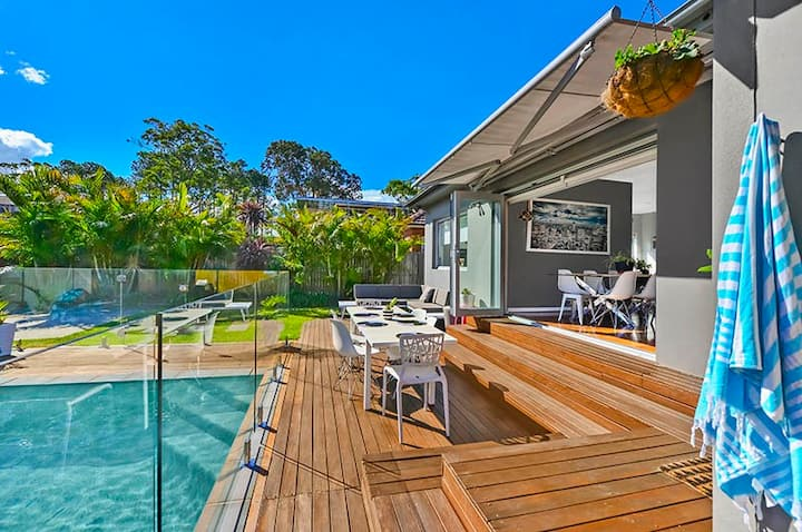 Sunny home with pool