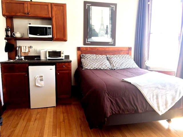 New bed and amenities to add comfort