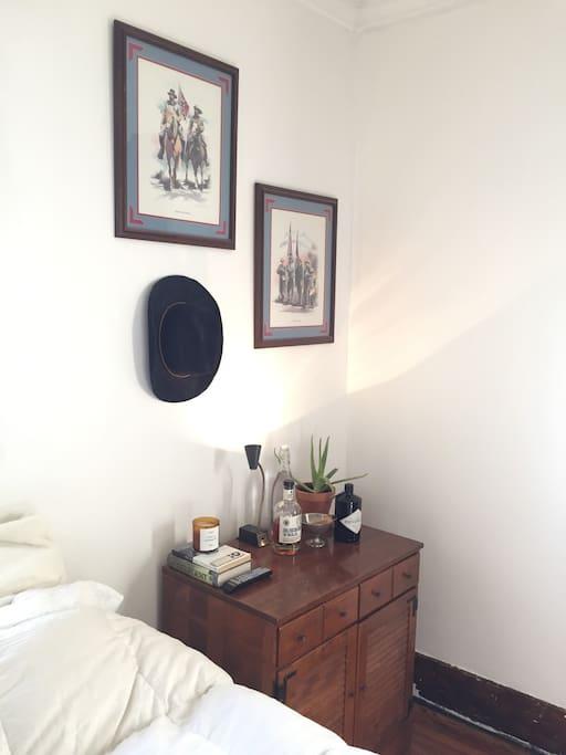 1st bedroom side table.