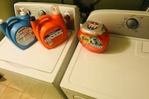 Washer and dryer. Sorry it is not free :D