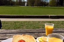 Breakfast at South Hill Park