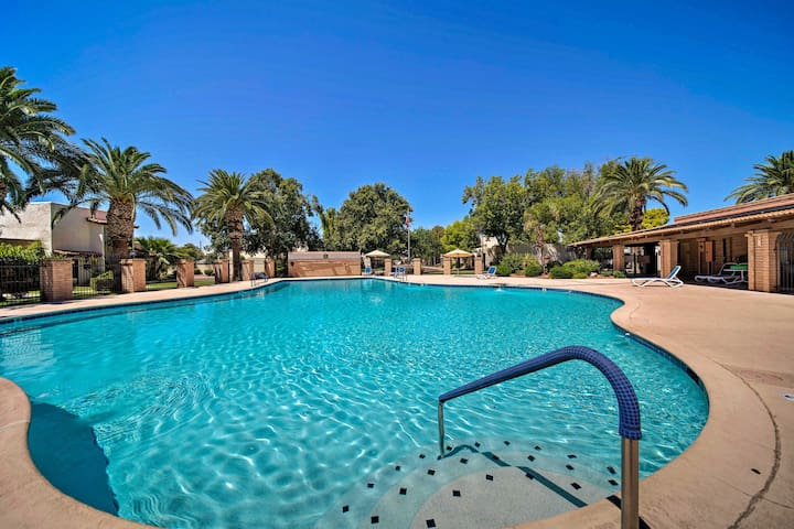 Beat the Arizona heat by hopping in the large community pool!