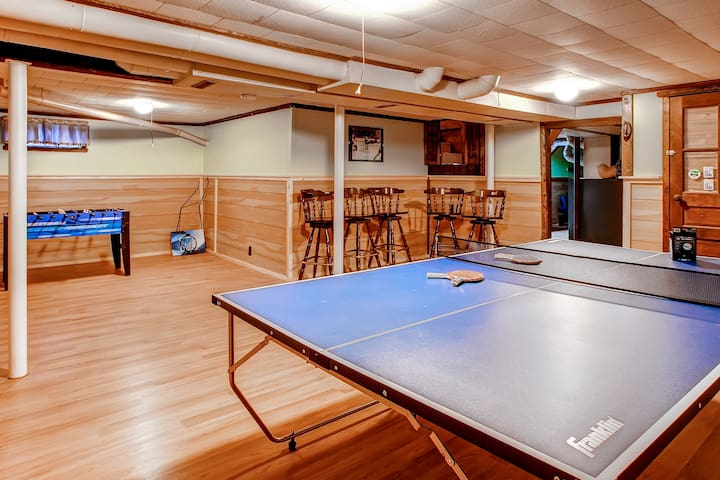 Everyone will love the game room!