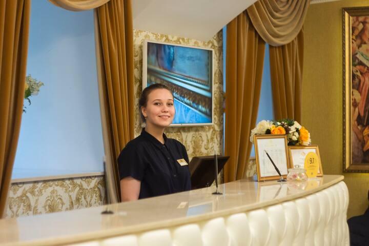Изысканный интерьер старого Петербурга, отель 4*