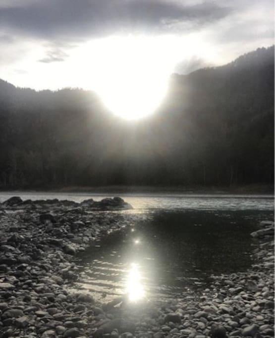 Наш берег реки Катунь