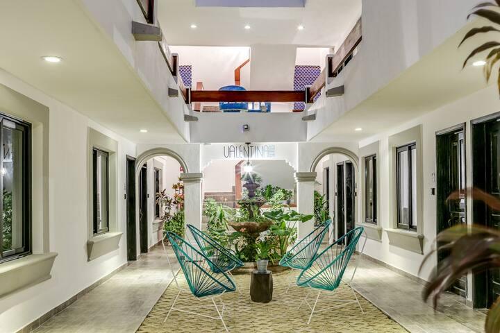 Courtyard inside Valentina Suites