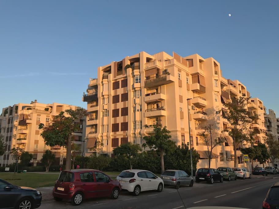 Vista del bloque de apartamentos