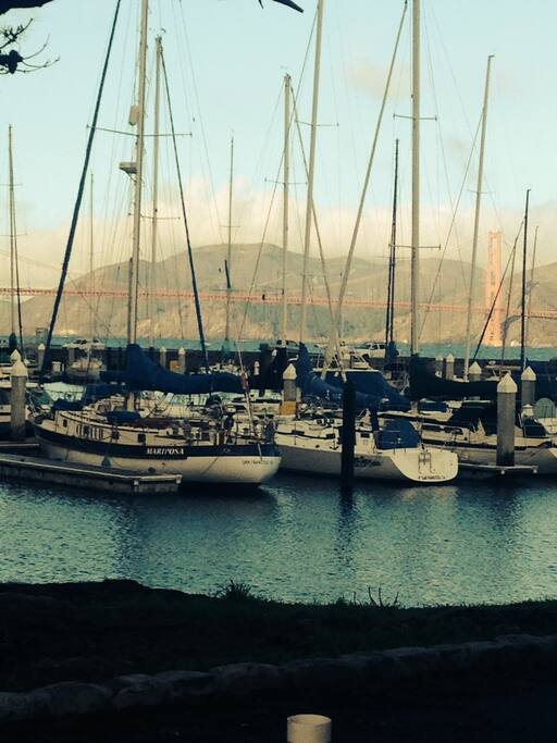 Marina just a short walk away.