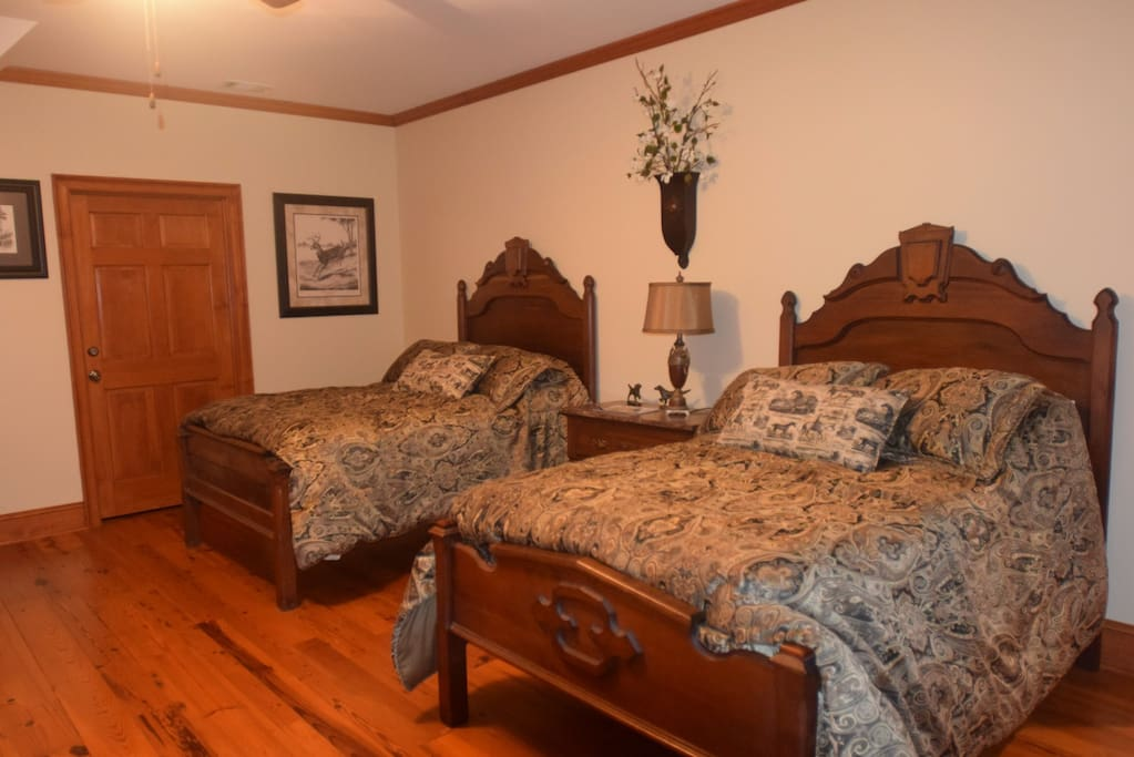 Two 3/4 antique family heirloom walnut beds.