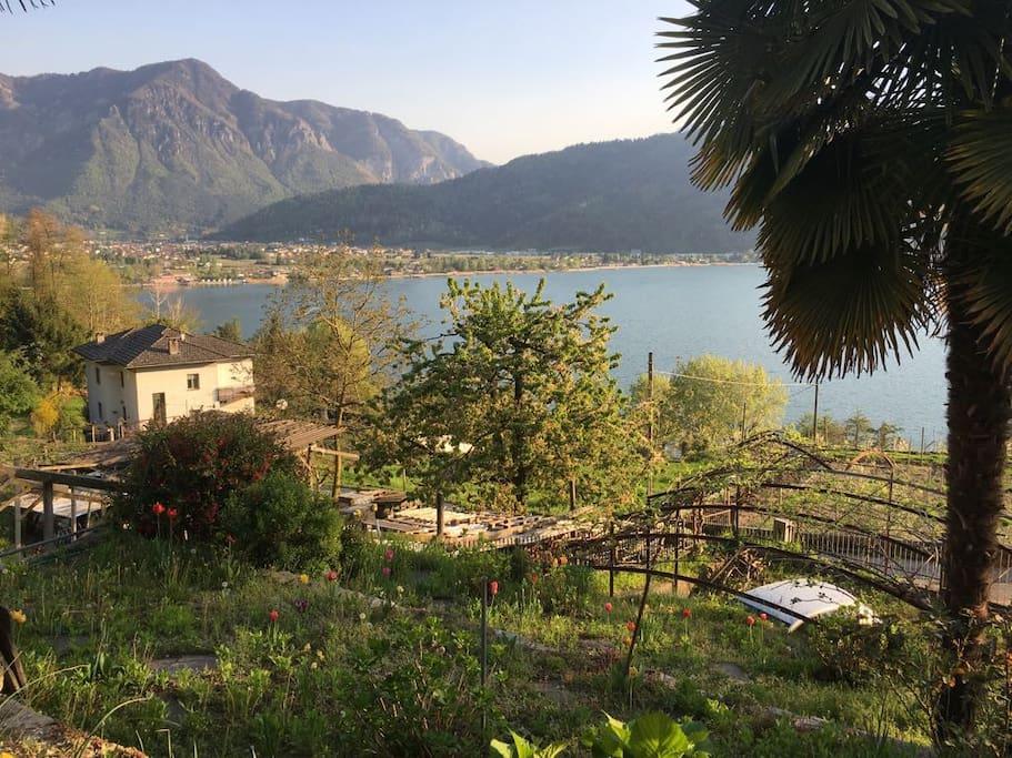 Vista panoramica sul lago di Caldonazzo